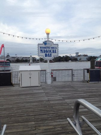 Disney's BoardWalk Villas: On pier awaiting ferry