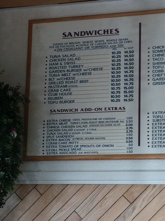 Stillwell's Bakery & Cafe: sandwich menu