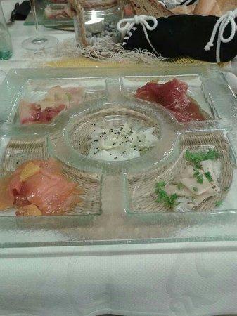 Sporthotel Zoll : Antipasto di pesce. ..