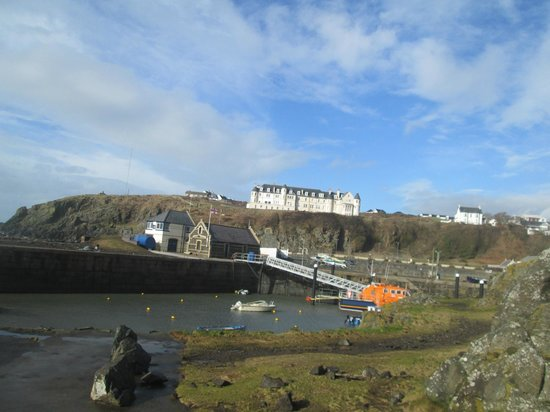 The Portpatrick Hotel: The hotel's amazing postion
