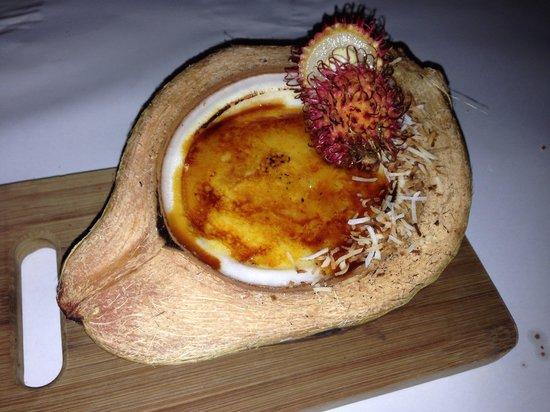 Seabean Tapas Bar Restaurant : Delicious coconut crème brûlée
