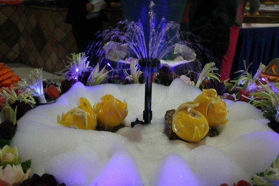 Eden Star Zarzis : decoration du buffet