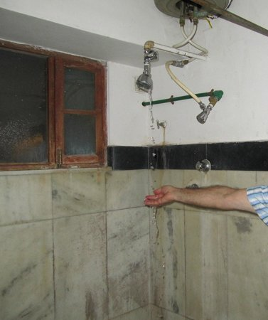 Rangniwas Palace Hotel : bathroom -rooms ground floor.