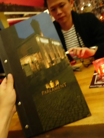 Parlament: The menu