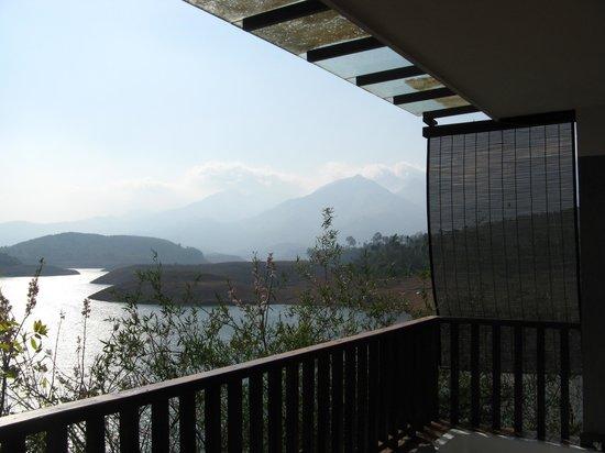 Wayanad Silverwoods : View of banasura sagar from room