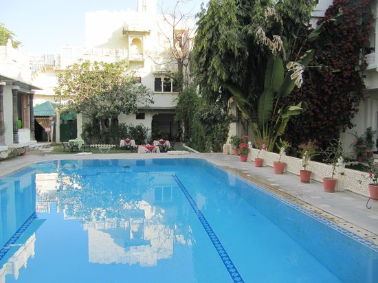 Hotel Mahendra Prakash : View of the swimming pool