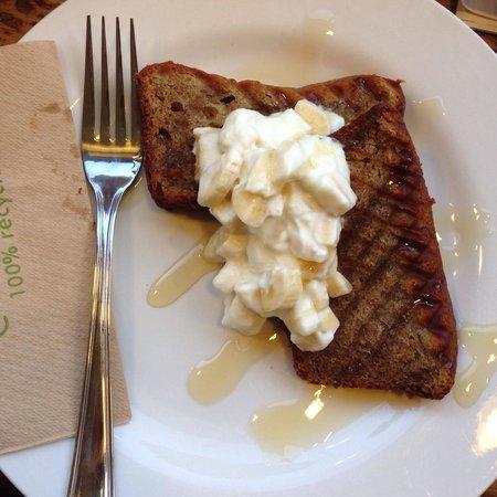 Moreish cafe deli ltd: Best hot banana bread ever.