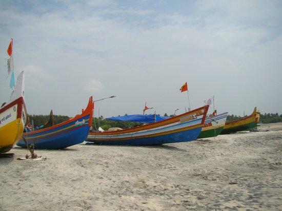 South Canal Holidays : barques de pêcheurs sur la plage