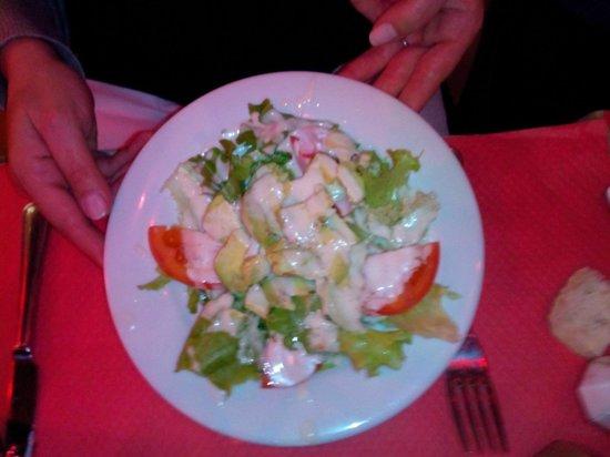 Santorini: salade d'avocat