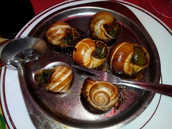 Santorini: escargots