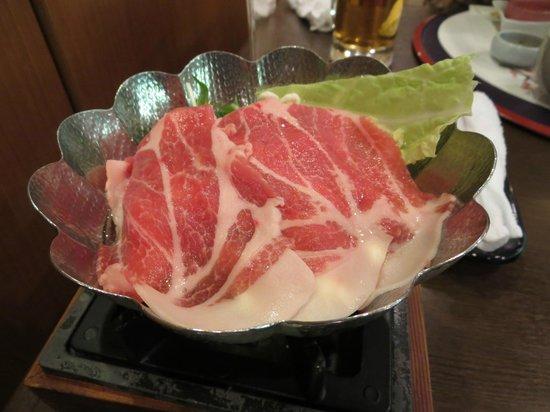 Diamond Arima Onsen Society : 豚肉の小鍋