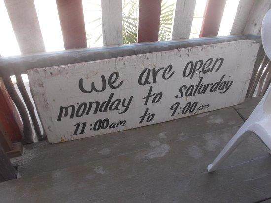 Toby's Restaurant : Heuress d'ouverture au 21 février 2014.