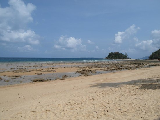 Paya Beach Spa and Dive Resort: beach at low tide