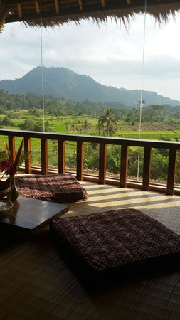 Surya Shanti Villa: View from bima's room