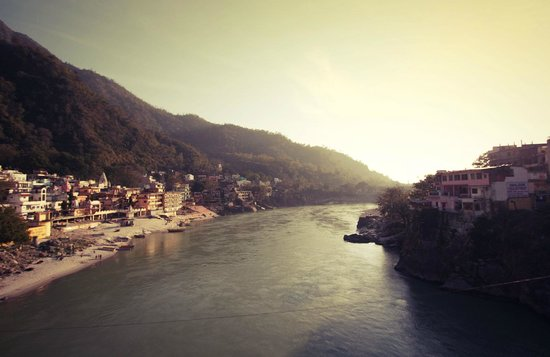 Divine Ganga Cottage: Ganga sunset