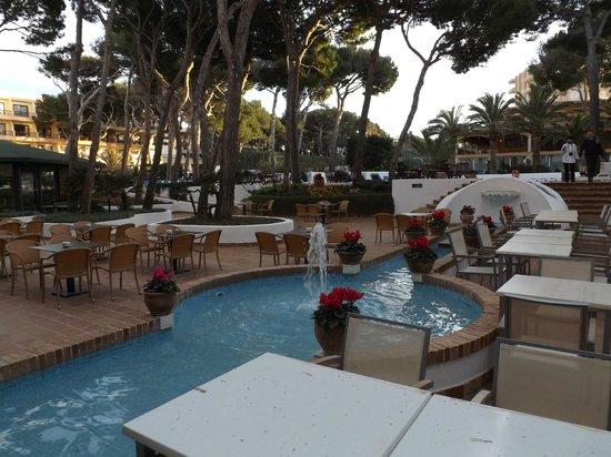 Hotel & Spa S'Entrador Playa: Garten mit Außenpool