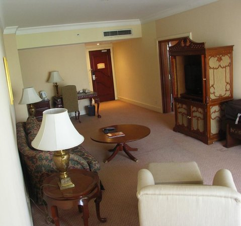 Palace of the Golden Horses: The Living Room of our suite.