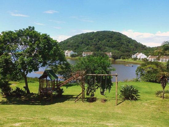 The Estuary Hotel & Spa: View from the terrace where there is outdoor seating down to the play area