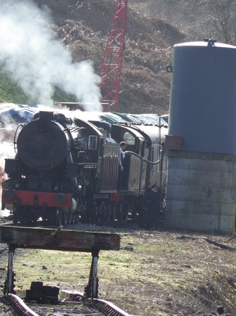 Churnet Valley Railway: S160 6046 and N7 69621 locomotive at Cheddleton