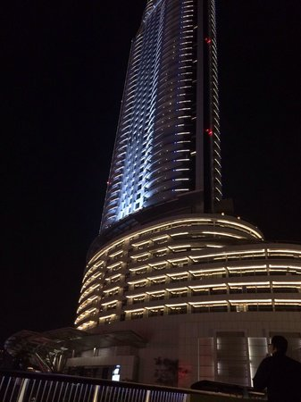 The Address Downtown Dubai: The Address hotel at night
