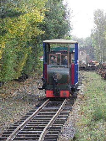 Bursledon Brickworks Industrial Museum: The narrow gauge railway at the October open day 2013