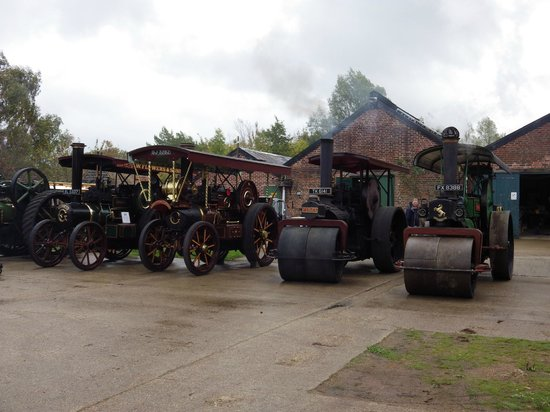 Bursledon Brickworks Industrial Museum: Traction engines and Steam Rollers on display at the October open day 2013