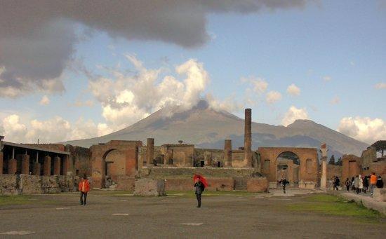 Mount Vesuvius from Pompei