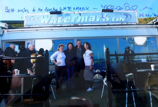 The Watermark Cafe: Michael Palin and a TV crew were at Watermark to film a scene or two for Remember Me.