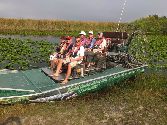 Florida Cracker Airboat Rides & Guide Service : The airboat which gets close up to the various wildlife