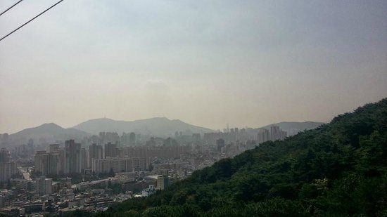 Geumgang Park: Great view from the cable car.