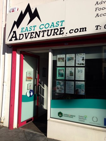 Rostrevor Mountain Bike Trails: The guys at east coast manage bike hire and the uplift service on site at the Rostrevor trails w