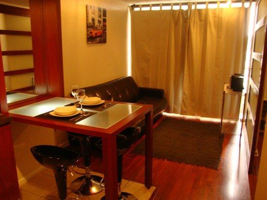 Apart Urbano Bellas Artes: Cozinha integrada, sofá cama opciona, toca cd