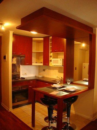 Apart Urbano Bellas Artes: Cozinha equipada, louças, micro ondas, torradeira, forno-foção, cafeteira