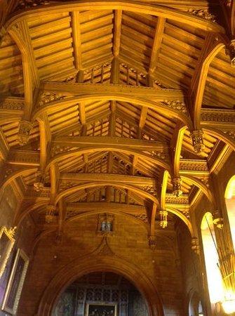 Bamburgh Castle: The teak roof