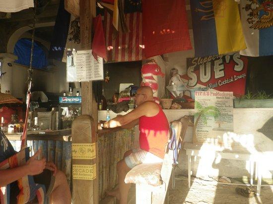 Tita's Pink Seahorse Bar: The bar at Tita's