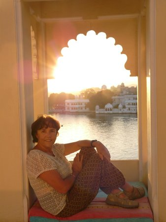 Raj Niwas Hotel: vue de la terrasse