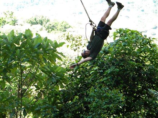 Osa Canopy Tour: Upside down on the Tarzan Swing
