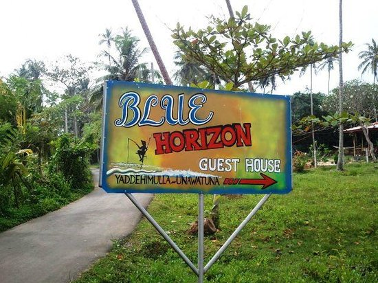 Blue Horizon Hotel: Guest House Sign