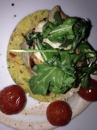 Pistache French Bistro: swordfish over couscous