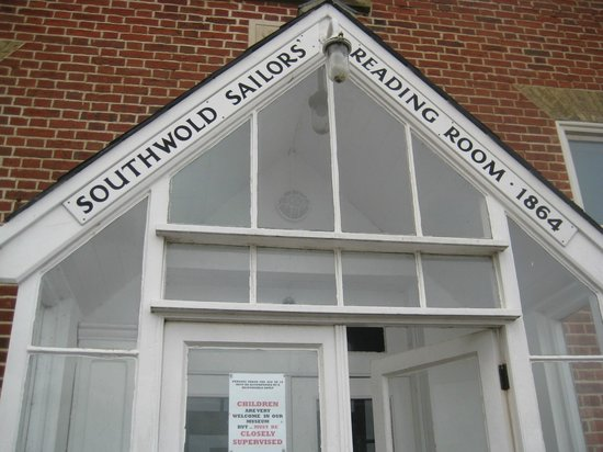 Southwold Sailors' Reading Room: Porch wording