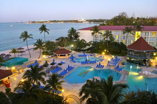 Breezes Resort & Spa Bahamas : View from 5th floor room (lovely but noisy)