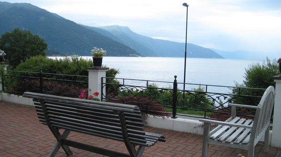 View from the front entrance of Balestrand Hotel