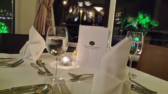 The Grand Hotel: Our lovely table set up for the menu tasting
