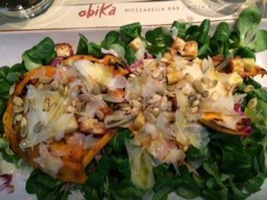 Obica Mozzarella Bar - Brera: insalatona di zucca da Obikà