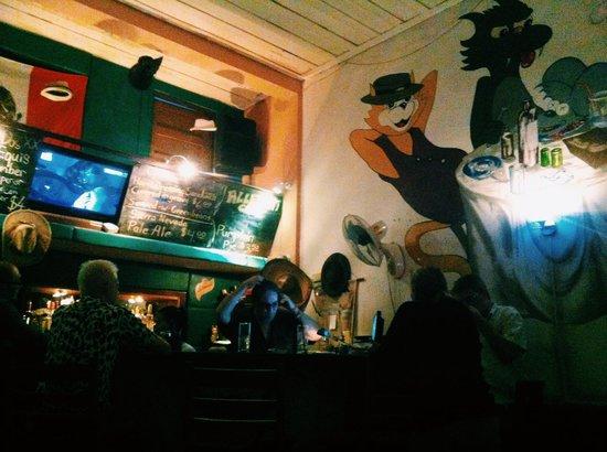 Blue Lime: Alley Cat bar/cafe next door