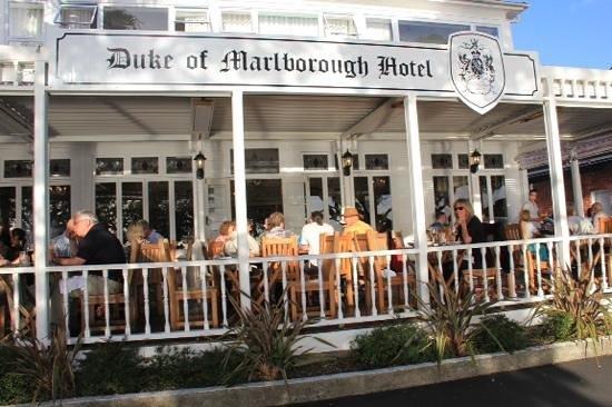 Duke of marlborough restaurant picture of duke of for Fish restaurant marlborough