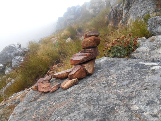 Helderberg Nature Reserve : Cairn trail marker - this way!