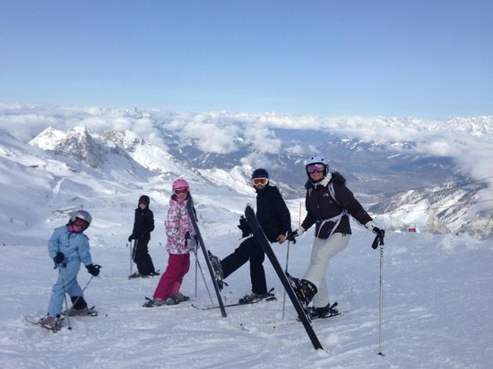 Hotel Tauernhof: skiing at the top of the kitzteinhorn glacier Kaprun
