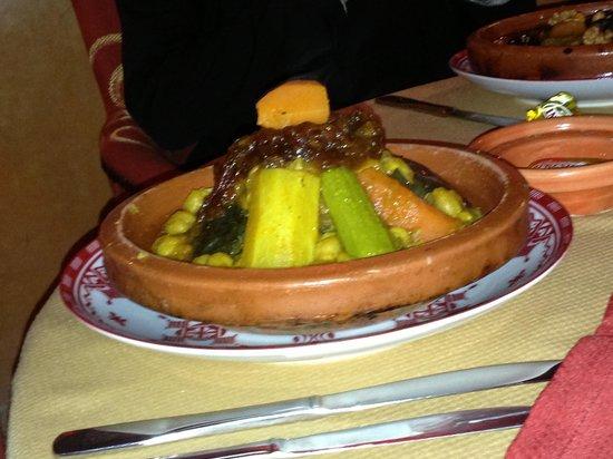 Restaurant of La Maison Arabe: couscous