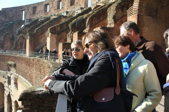 Rome Tours - Private tours of Rome : Veronica with us in the Colosseum